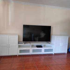 For sale: TV bench plus cabinets from ikea